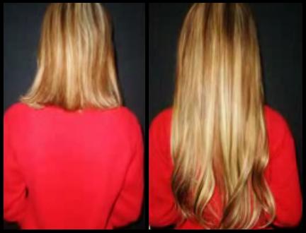 125 extensions de 50cm en 1G chaud blond clair 24, blond doré 14, châtain clair 12