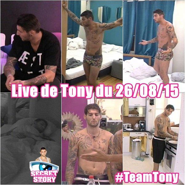 Live de Tony du 26/08/15