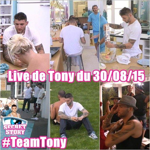 Live de Tony du 30/08/15