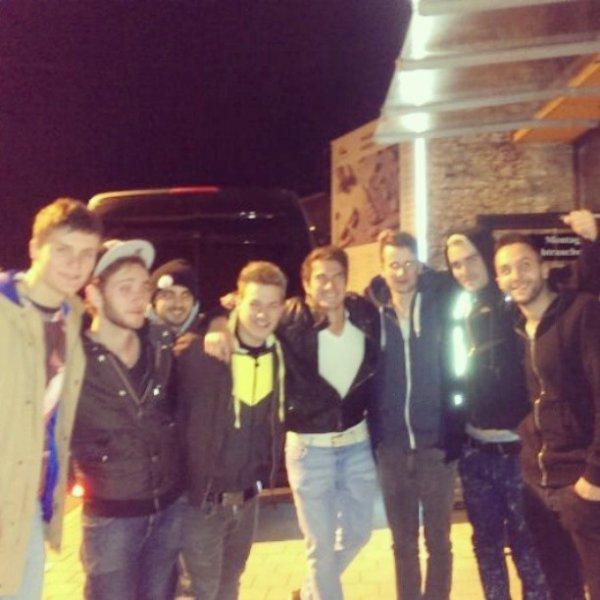 Des photos du groupe à Tettnang avec groupe Goodbye Emma.