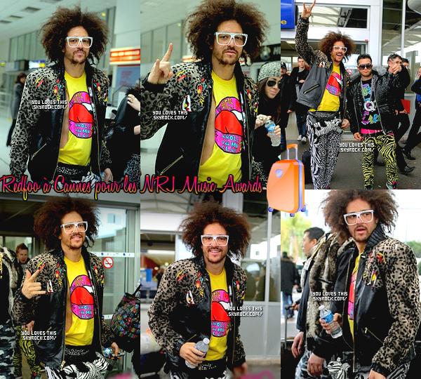 26 janvier 2012 : Redfoo, Q et l'équipe qui suit les LMFAO en FRANCE ! Oui, pour les NRJ Music Awards.