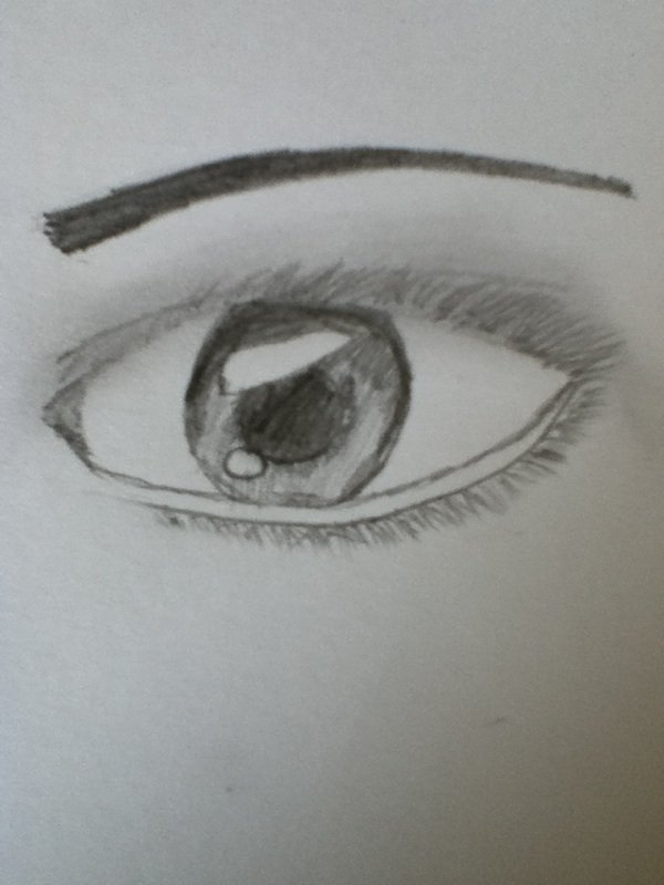 le 1er oeil que je fait