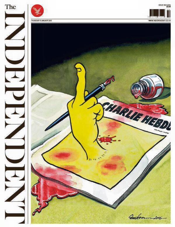 Dans le monde entier, un élan de protestation contre le terrorisme, et pour la liberté d'expression.....