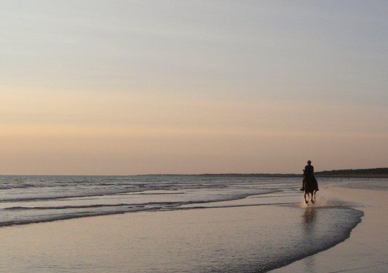 Oléron, Aout 2018, Pixelle et moi sur la plage de VertBois, le rêve !