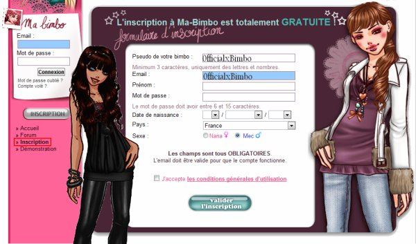 0fficialxBimbo : Inscription