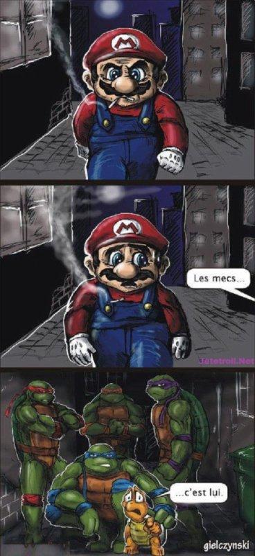 La revanche des tortue sur Mario