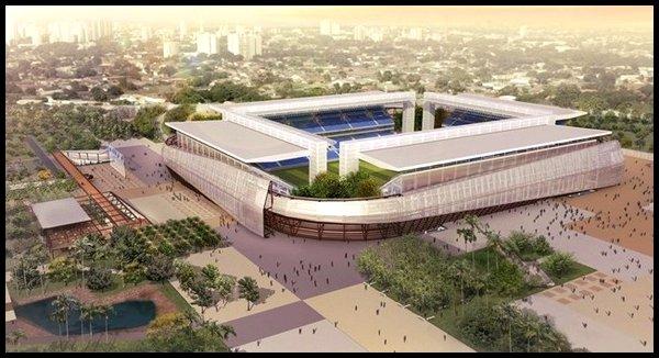 Les stades : Arena Pantanal à Cuiaba