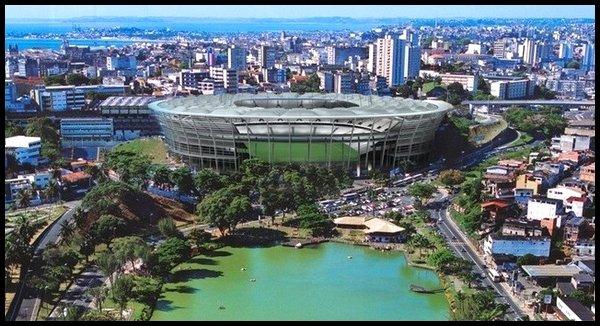 Les stades : Arena Fonte Nova à Salvador