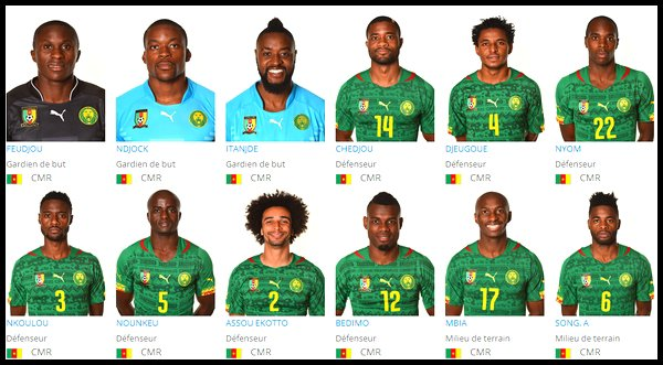 Groupe A : Cameroun