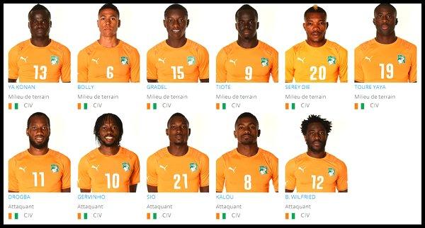 Groupe C : Côte d'Ivoire