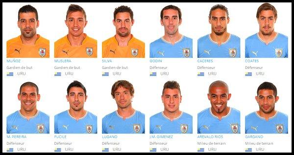 Groupe D : Uruguay