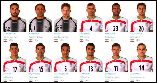 Groupe F : Iran