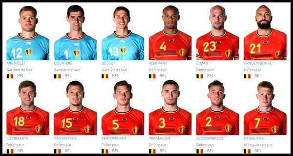 Groupe H : Belgique