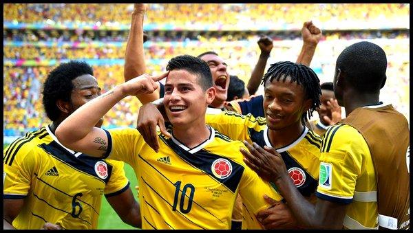 Jeudi 19 Juin : Colombie - Côte d'Ivoire à 18h