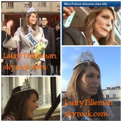Laury Thilleman notre belle Miss France 2011 est de retour chez elle à Brest.