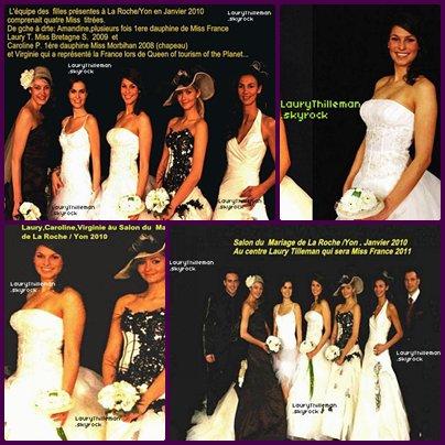 """Sur c'est photos ont peux voir Laury Thilleman au """"Salon du Mariage"""" en 2010 où Laury n'était pas encore Miss France.  TU PRENDS, TU CREDITE !!"""