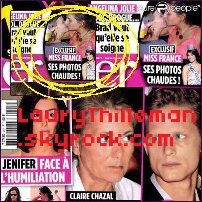 Le magazine Closer en kiosques samedi 8 janvier 2011.                                                                                                          Laury Thilleman aime t-elle les filles ??