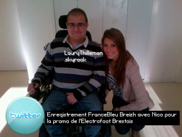 Enregistrement France Bleu avec Nico