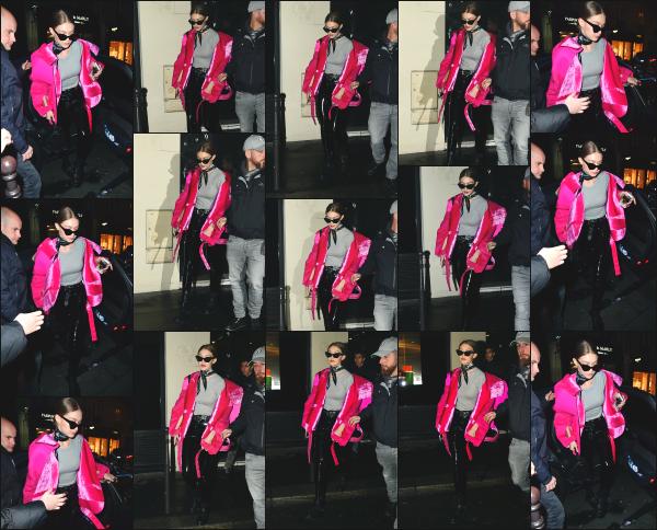 - 05.03.17 ─ Notre ravissante Gigi Hadid est photographiée alors qu'elle était tranquillement dans les rues de Paris[/s#00000ize]C'est avec une veste rose bien voyant que nous retrouvons Gigi en fin de journée ce dimanche là. Je n'aime pas trop la tenue qu'elle portait. C'est un flop -