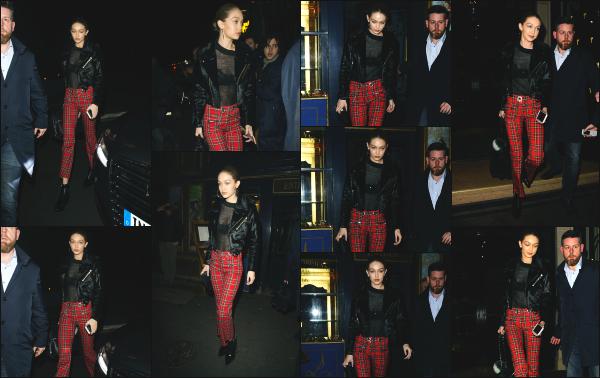 - 08.03.17 ─ Notre Gigi Hadid est photographiée alors qu'elle se promenait dans les rues de la capitale française ![/s#00000ize]Dernier jour en France pour notre Gigi, avant son retour aux Etats-Unis ! Je n'aime pas du tout le pantalon qu'elle portait malheureusement. C'est un flop -