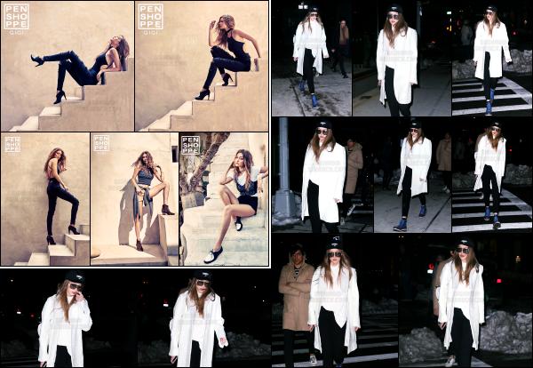 - 16.03.17 ─ Notre Gigi Hadid est photographiée alors qu'elle revenait son appartement dans les rues de New York. [/s#00000ize]Gigi était vêtu de la même tenue que dans la journée, sauf qu'elle a simplement changé le pantalon et à opté pour un noir cette fois. C'est donc un top !    -