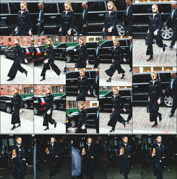 - 14.01.17 ─ Notre ravissante Gigi' Hadid est photographiée alors qu'elle se promenait dans les rues de New York ! [/s#00000ize]C'est sous la pluie que nous retrouvons la belle Gigi. Le soir même, elle est photographiée quittant son appart' avec Bella et sa mère, Yolanda.  Un flop !  -