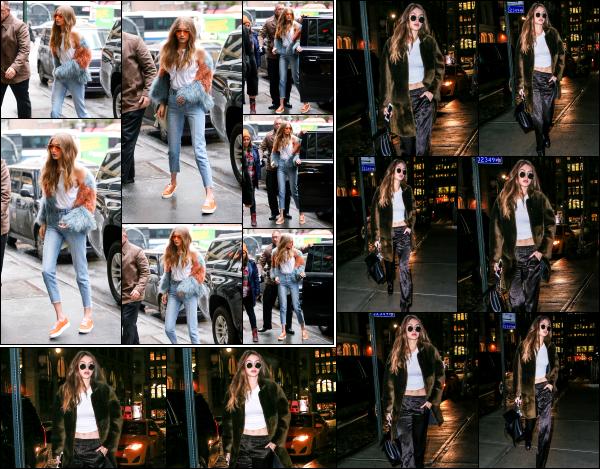 - 17.01.17 ─ Notre Gigi Hadid est photographiée alors qu'elle allait sur le set d'un shoot dans les rues de New York. [/s#00000ize]Un peu plus tard dans la journée, Gigi a été photographiée alors qu'elle rejoignait son appartement, toujours dans New York. Un flop pour les 2 tenues !  -
