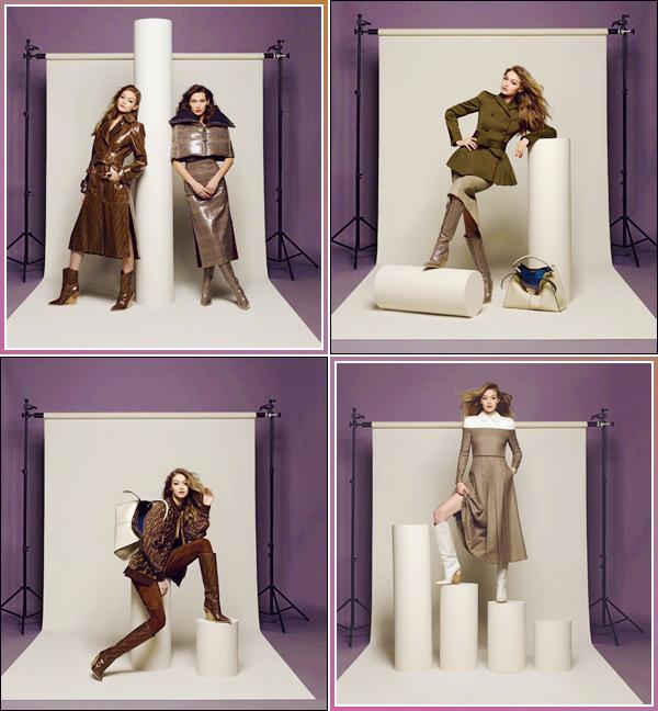 - '-FENDI ●- Gigi Hadid prenait la pose pour la nouvelle collection de « FENDI » d'automne/hiver ! -