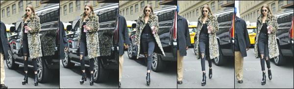- 20.01.17 ─ Notre ravissante Gigi' Hadid est photographiée alors qu'elle se promenait dans les rues de New York ! [/s#00000ize]Malheureusement nous avons que très peu de photos pour cette news, j'aime bien la tenue quelle porte même si les motifs léopards je n'en suis pas fan.  -