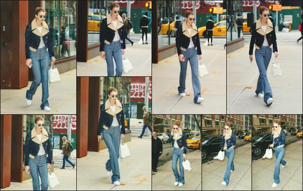 - 23.01.17 ─ Notre Gigi Hadid est photographiée alors qu'elle revenait son appartement dans les rues de New York. [/s#00000ize]Je n'aime pas du tout la tenue de Gigi lors de cette sortie, je n'accroche pas avec la veste qu'elle porte et la coupe du pantalon. C'est donc un gros flop !  -