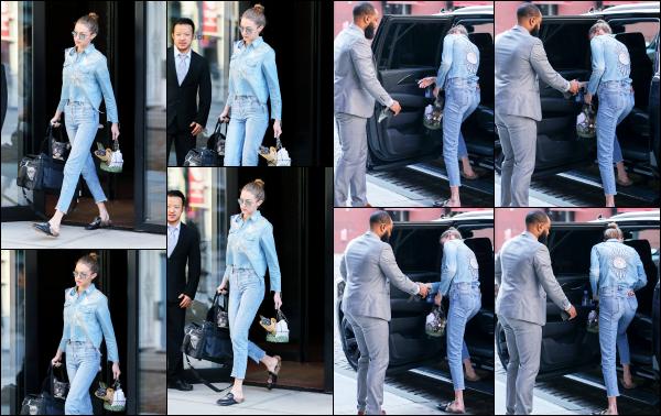 - 16.04.17 ─ Notre Gigi Hadid est photographiée alors qu'elle quittait son appartement dans les rues de New York ! [/s#00000ize]Une tenue tout en jeans, j'adhère pas du tout pour le coup ! Gigi était très chargée ce jour là de plusieurs sacs ainsi que d'un petit panier. Un gros flop !  -