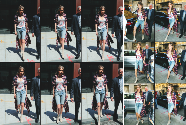 - 11.04.17 ─ Notre Gigi Hadid est photographiée alors qu'elle quittait son appartement dans les rues de New York ! [/s#00000ize]Gigi H. rejoignait les bureaux de Tommy Hilfiger, vu qu'elle est aperçue quelques heures plus tard quittant celui-ci. La tenue est assez sympa ! Des avis?!   -
