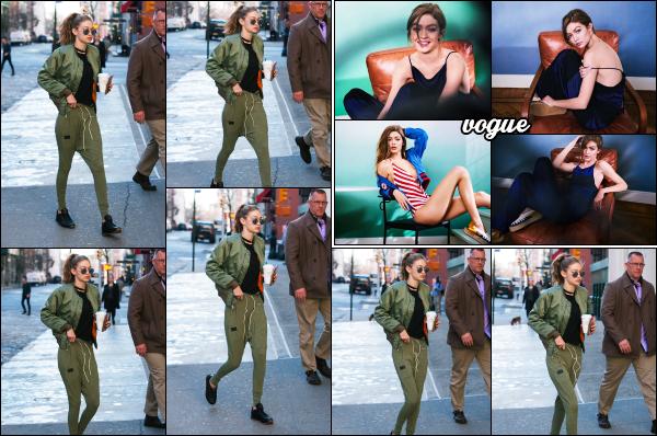 - 10.04.17 ─ Gigi Hadid est photographiée alors qu'elle quittait le magasin « Blick »  dans les rues de New York City.[/s#00000ize]Gigi est donc de retour dans sa petite ville américaine. Je trouve sa tenue plutôt cool ! Elle a également posé pour le vogue du Pays-Bas, édition de Mai.   -