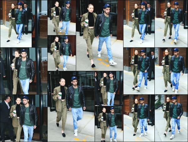 - 25.04.17 ─ Notre Gigi Hadid est photographiée alors qu'elle quittait son appartement dans les rues de New York ! [/s#00000ize]C'est en compagnie de son petit ami, Zayn Malik que nous retrouvons Gigi ce jour là. Cela faisait quelques temps que nous les avions plus vu ensemble.  -