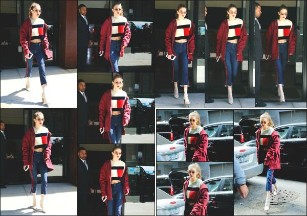 - 12.05.17 ─ Notre Gigi Hadid est photographiée alors qu'elle quittait son appartement dans les rues de New York ! [/s#00000ize]Un peu plus tard dans la journée, elle est photographiée dans les rues de New York, et de nouveau quitter son appartement. Je n'aime pas trop la tenue !   -