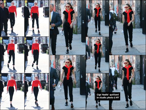 - 31.05.17 ─ Notre Gigi Hadid est photographiée alors qu'elle allait dans u studio photo dans les rues de New York.[/s#00000ize]Plus tard, elle est encore photographiée alors qu'elle quittait ce même studio, et allait rejoindre son amie, Kendall Jenner. Toujours un flop pour la tenue.  -