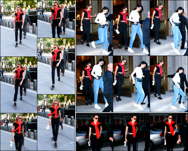 - 31.05.17 ─ Notre belle Gigi Hadid est photographiée alors qu'elle allait dîner au restaurant « Nobu » de New York.[/s#00000ize]Un peu plus tard, elle est photographiée alors qu'elle quittait ce même restaurant en compagnie de Kendall Jenner, puis, rentrant chez elle. Un gros flop !  -