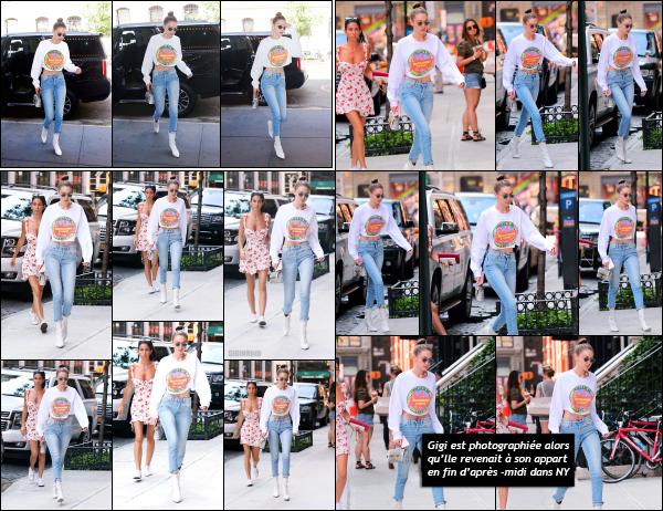 - 14.06.17 ─ Notre Gigi Hadid est photographiée alors qu'elle allait dans u studio photo dans les rues de New York.[/s#00000ize]Gigi n'a pas arrêté de la journée au vu de tout ses allés-retour dans la ville de New York ! Sa tenue est la même qu'un peu plus tôt dans la journée! Top ! -