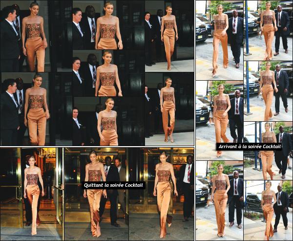 - 26.06.17 ─ Notre Gigi Hadid est photographiée alors qu'elle quittait son appartement dans les rues de New York ! [/s#00000ize]Gigi Hadid partait en direction d'une soirée cocktail organisé en l'honneur d'Anna Wintour dans un grand hôtel New Yorkais ! Un gros flop pour la tenue ! -