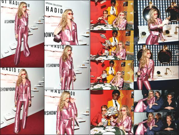 - 27.06.17 ─ Notre Gigi Hadid était présente à la soirée évènement « Vogue Eyewear » organisée dans - New York ! [/s#00000ize]C'est dans une tenue vraiment très spéciale pour le coup, que Gigi à été aperçue ! Je n'aime ni la couleur, ni la coupe de l'ensemble. C'est un gros flop ! -