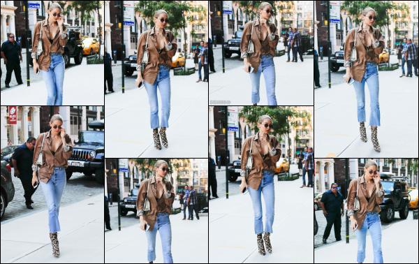 - 18.07.17 ─ Notre Gigi Hadid est photographiée alors qu'elle revenait son appartement dans les rues de New York.[/s#00000ize]Fin de la journée pour la sublime Gigi, elle revient enfin chez elle après cette petite sortie au Fish Eddy !! Pas très souriante malheureusement. Beau top ! -