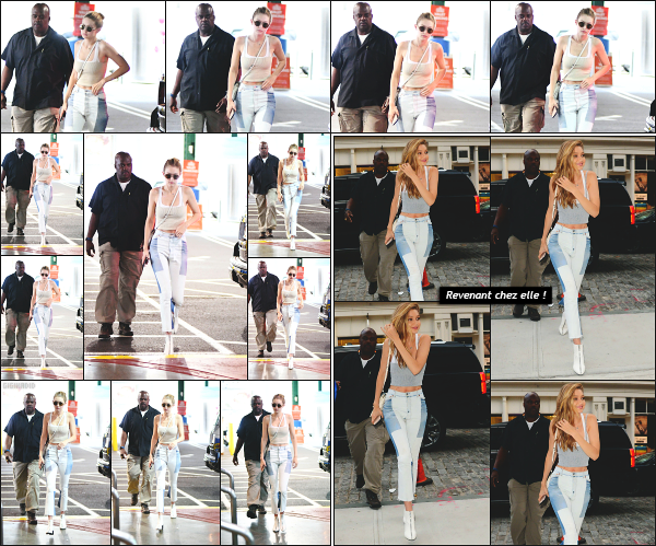 - 26.07.17 ─ Notre très belle Gigi Hadid est photographiée alors qu'elle arrivait devant un studio photo à New York[/s#00000ize]C'est le début d'une longue journée qui démarre pour la belle mannequin. Un peu plus tard, c'est en revenant à son appartement que nous l'apercevons ! -
