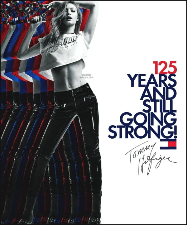 """"""" • Gigi célébre les 125 ans de Tommy Hilfiger pour sa new collection TOMMYXGIGI ! -"""