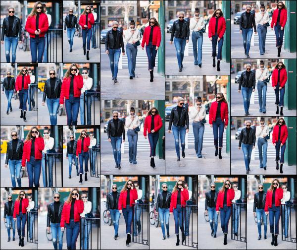 - 29.01.17 ─ Notre ravissante Gigi' Hadid est photographiée alors qu'elle se promenait dans les rues de New York ! [/s#00000ize]Gi était en compagnie de sa soeur Bella, mais aussi de leur mère, Yolanda en cette petite journée ! La tenue qu'elle portait est plutôt sympa. Un beau top  -