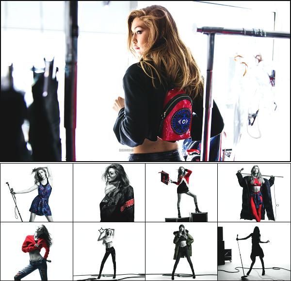 """"""" • La sublime Gigi Hadid pose pour la new collection TOMMYXGIGI Automne/Hiver ! -"""