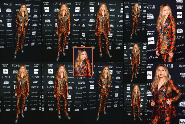 - 08.09.17 ─ Gigi Hadid était présente à la soirée « Harper's Bazaar Icons » organisée par le magazine à New York ![/s#00000ize]Gigi H. était donc présente à cette soirée, tout comme plusieurs autres célébrités, dont Hailey Baldwin, Kaia Gerber et pleins d'autres... C'est un gros flop. -