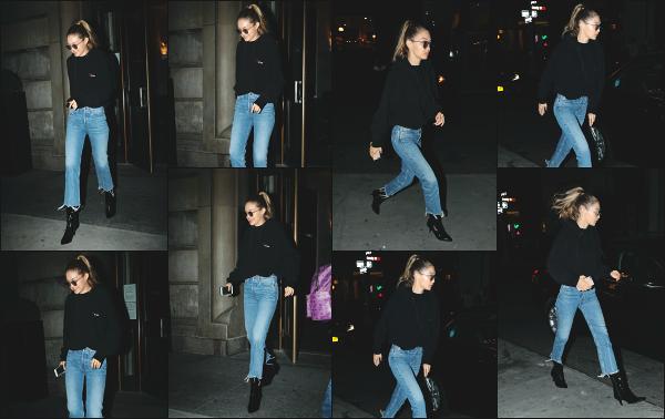 - 12.09.17 ─ Gigi Hadid est photographiée alors qu'elle quittait les bureaux de la marque Marc Jacobs à New York ![/s#00000ize]Gigi Hadid portait une tenue des plus basiques, un look un peu plus simple qui fait pas de mal de temps en temps ! Je lui accorde donc un beau petit top -
