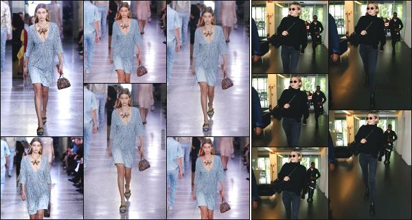 - 23.09.17 ─ La ravissante Gigi Hadid est photographiée alors qu'elle arrivait à devant l'aéroport de Milan en Italie ![/s#00000ize] Un peu plus tôt dans la journée, Gigi à défilé pour  Bottega Veneta  lors de la Milan Fashion Week ! C'est à présent en direction de Paris qu'elle se dirige ! -