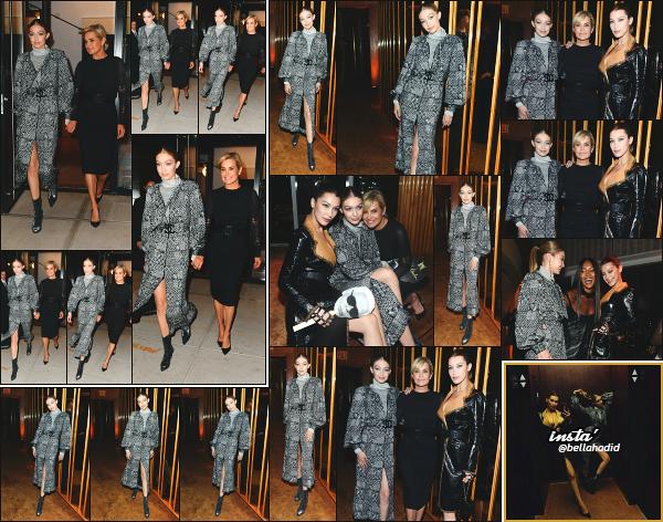 - 23.10.17 ─ Gigi N. Hadid était présente au dîné organisé par « W Magazine » en l'honneur de Karl Lagerfeld à NY ! [/s#00000ize]Après plusieurs jour sans nouvelle de Gigi, c'est cette fois ci en compagnie de sa mère, Yolanda et de soeur soeur, Bella que nous la retrouvons. Petit flop -
