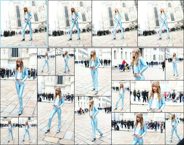 - 24.02.17 ─ Notre Gi Hadid est photographiée en pleins tournage d'un photoshoot dans les rues de Milan - Italie ! [/s#00000ize] Gigi à également rencontrée certains de ses fans lors du TOMMYXGIGI Tour à Milan, plus tôt dans la journée! Je n'aime pas du tout la tenue qu'elle porte  -